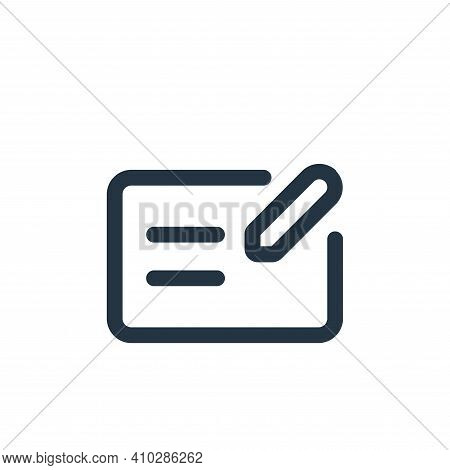 mail icon isolated on white background from interface collection. mail icon thin line outline linear