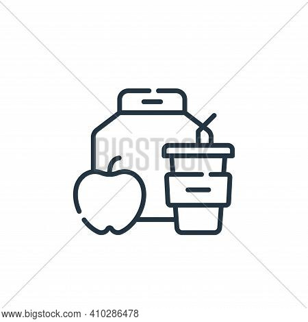 lunch icon isolated on white background from academy collection. lunch icon thin line outline linear