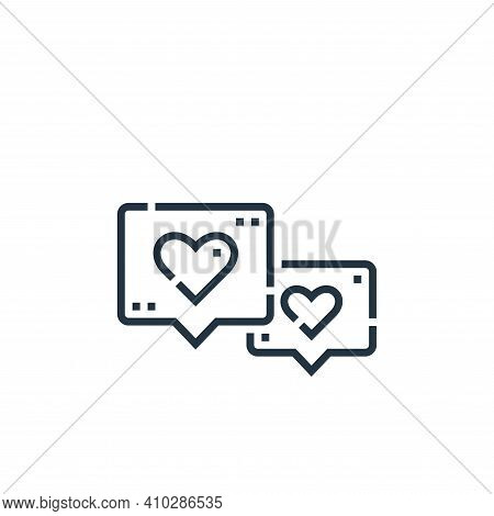 love icon isolated on white background from videoblogger collection. love icon thin line outline lin
