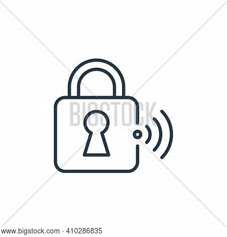 lock icon isolated on white background from internet of things collection. lock icon thin line outli