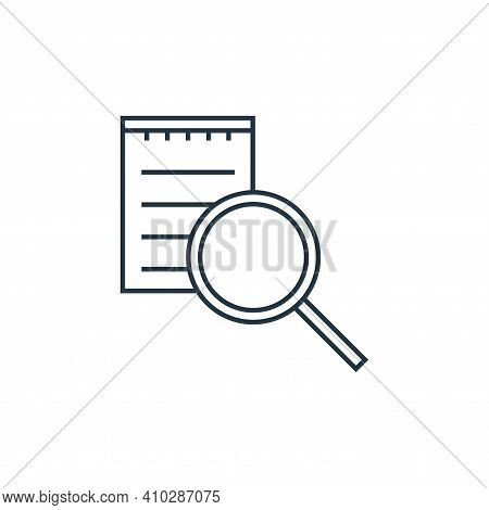 list search icon isolated on white background from online shopping collection. list search icon thin