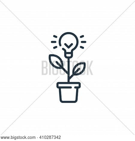 light bulb icon isolated on white background from life skills collection. light bulb icon thin line