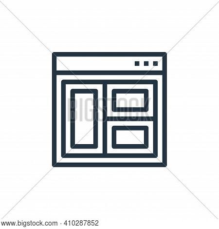 layout icon isolated on white background from user interface collection. layout icon thin line outli