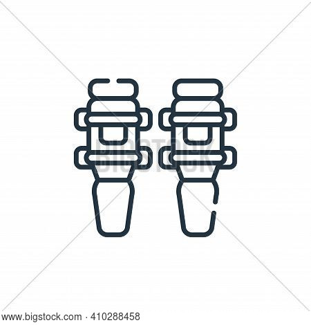knee pad icon isolated on white background from baseball collection. knee pad icon thin line outline