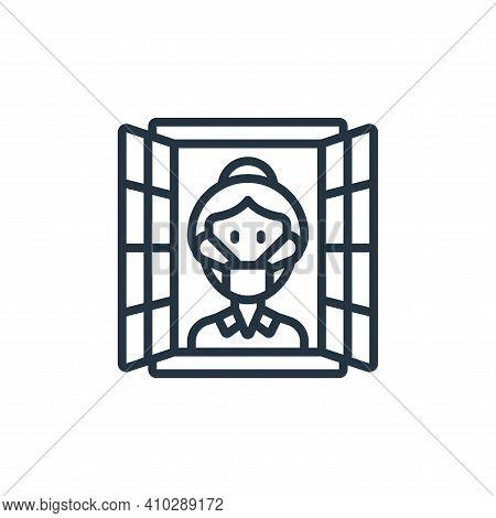 isolation icon isolated on white background from self isolation collection. isolation icon thin line