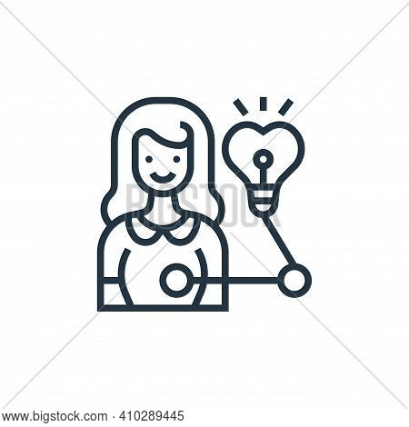 insight icon isolated on white background from digital transformation collection. insight icon thin