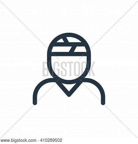 injury icon isolated on white background from health collection. injury icon thin line outline linea