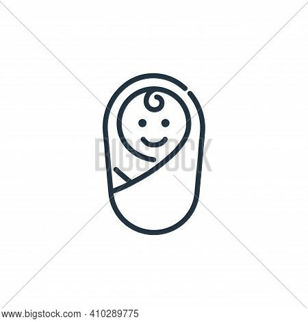 infant icon isolated on white background from insurance collection. infant icon thin line outline li