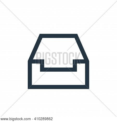 inbox icon isolated on white background from email collection. inbox icon thin line outline linear i