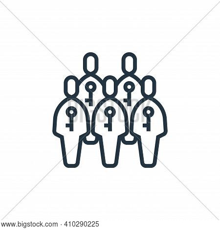 humans icon isolated on white background from business risks collection. humans icon thin line outli