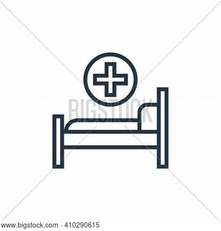 hospital bed icon isolated on white background from pandemic collection. hospital bed icon thin line