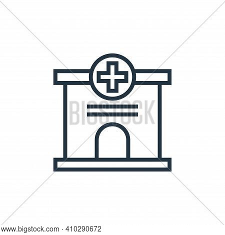 hospital icon isolated on white background from pandemic collection. hospital icon thin line outline