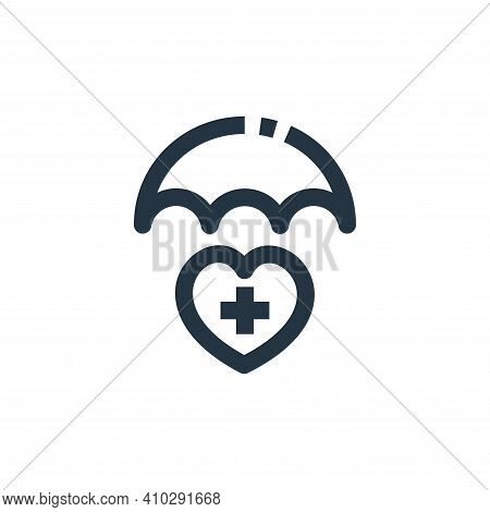 health insurance icon isolated on white background from medical kit collection. health insurance ico