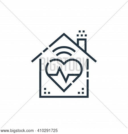 health icon isolated on white background from smarthome collection. health icon thin line outline li