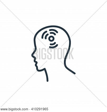 headache icon isolated on white background from covid collection. headache icon thin line outline li