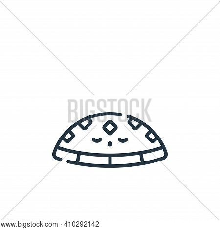 hat icon isolated on white background from ramadan collection. hat icon thin line outline linear hat