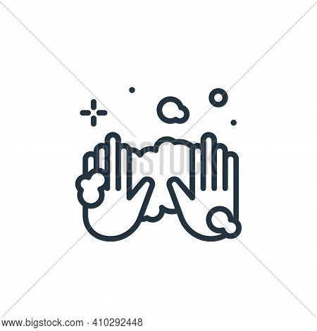hands icon isolated on white background from hygiene collection. hands icon thin line outline linear
