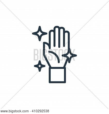 hand icon isolated on white background from pandemic collection. hand icon thin line outline linear