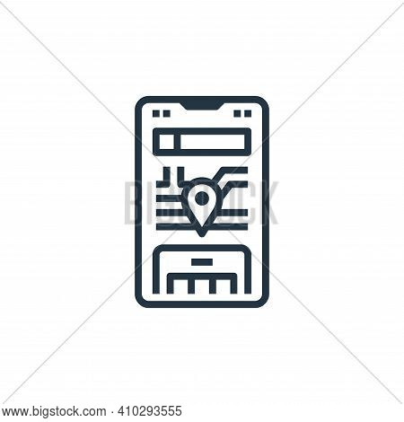 gps icon isolated on white background from travel collection. gps icon thin line outline linear gps