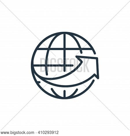 global network icon isolated on white background from ecommerce collection. global network icon thin