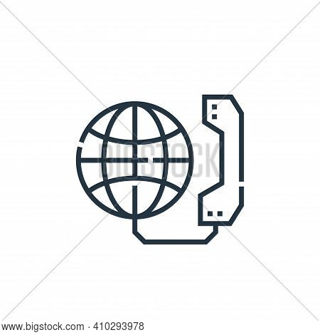 global communication icon isolated on white background from marketing collection. global communicati