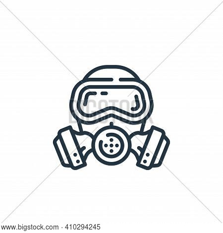 gas mask icon isolated on white background from virus transmission collection. gas mask icon thin li