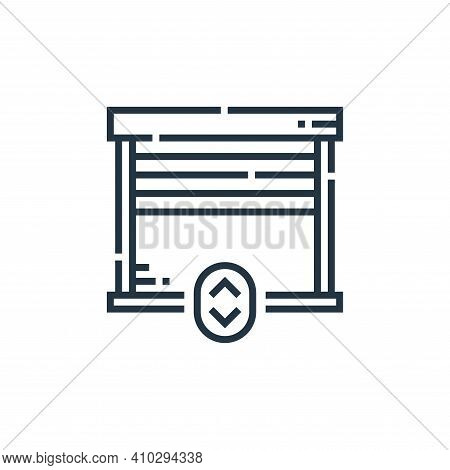 garage icon isolated on white background from smarthome collection. garage icon thin line outline li