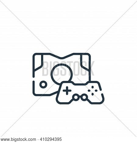 game console icon isolated on white background from videogame collection. game console icon thin lin