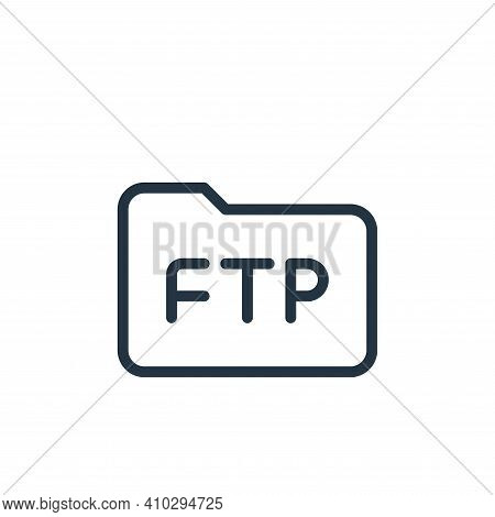 folder icon isolated on white background from data transfer collection. folder icon thin line outlin