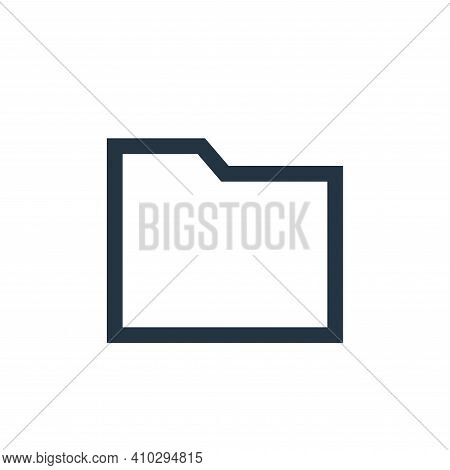 folder icon isolated on white background from email collection. folder icon thin line outline linear