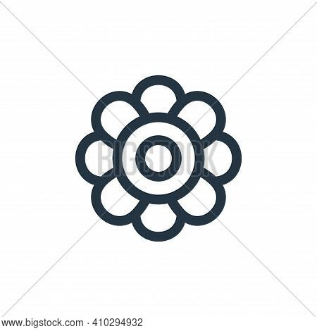 flower icon isolated on white background from hippies collection. flower icon thin line outline line