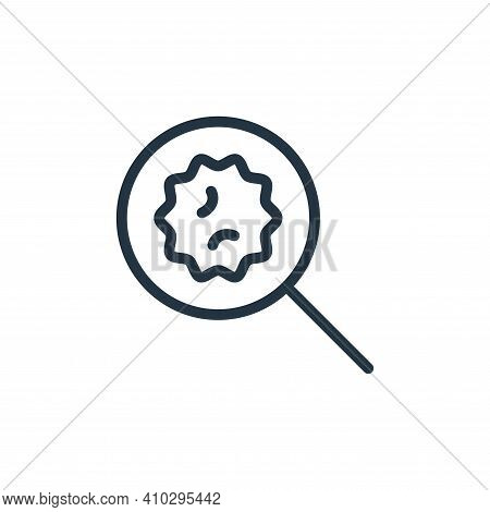 find icon isolated on white background from coronavirus collection. find icon thin line outline line