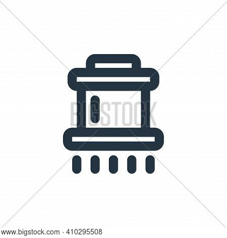 filter icon isolated on white background from coffee collection. filter icon thin line outline linea