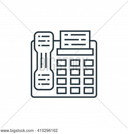 fax icon isolated on white background from technology devices collection. fax icon thin line outline