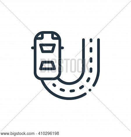 fast icon isolated on white background from autoracing collection. fast icon thin line outline linea