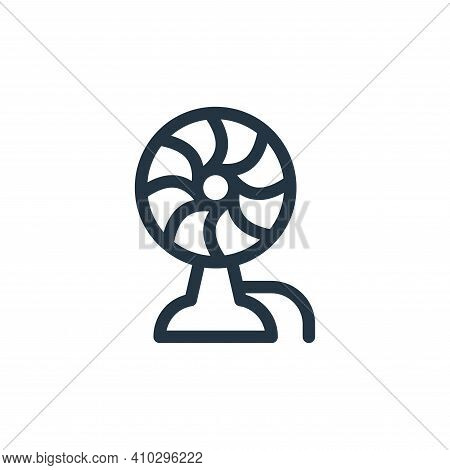 fan icon isolated on white background from electronics collection. fan icon thin line outline linear