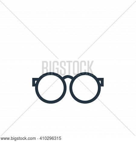 eyeglasses icon isolated on white background from education collection. eyeglasses icon thin line ou
