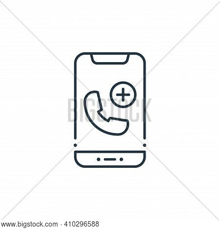 emergency call icon isolated on white background from coronavirus collection. emergency call icon th