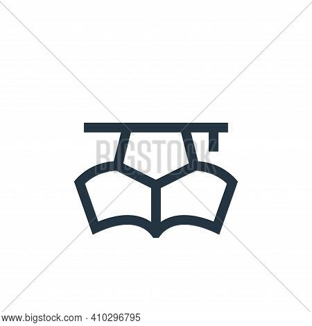 education icon isolated on white background from job resume collection. education icon thin line out