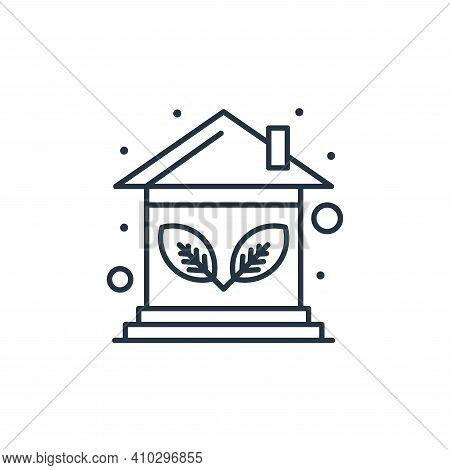 eco house icon isolated on white background from earth day collection. eco house icon thin line outl