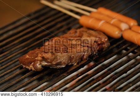 Grilled Pork, Pork Rib Or Grilled Pork Rib And Sausage