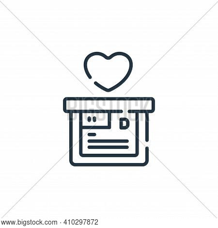 donation icon isolated on white background from hope collection. donation icon thin line outline lin