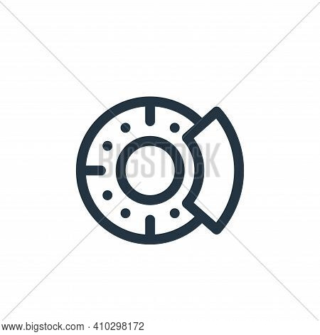 disc brake icon isolated on white background from auto racing collection. disc brake icon thin line