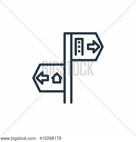 direction icon isolated on white background from work from home collection. direction icon thin line