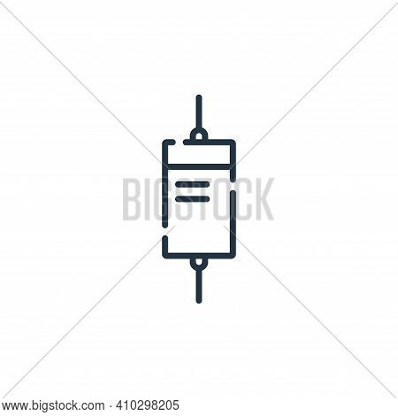 diode icon isolated on white background from electrician tools and elements collection. diode icon t