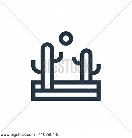 desert icon isolated on white background from united states of america collection. desert icon thin