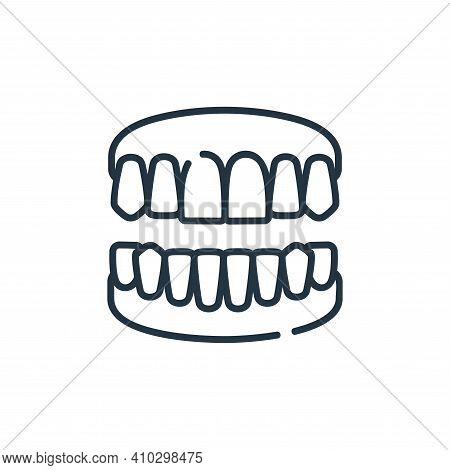 denture icon isolated on white background from dental care collection. denture icon thin line outlin