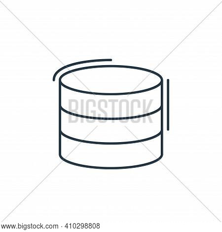 database icon isolated on white background from network and database collection. database icon thin