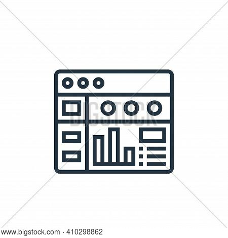 dashboard icon isolated on white background from data analytics collection. dashboard icon thin line