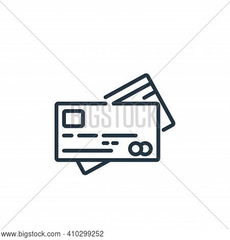 credit card icon isolated on white background from banking and money collection. credit card icon th